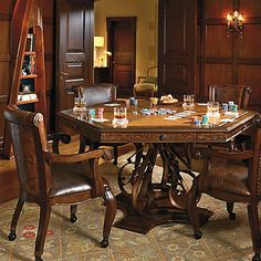 Frontgate Saratoga Game Table and Chairs Game Table And Chairs, Game Room Chairs, Game Room Furniture, Table Games, Game Tables, Bag Chairs, Lounge Chairs, Furniture Ideas, Furniture Nyc