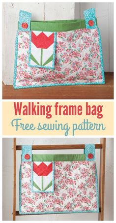 Free sewing pattern for this bag to attach to a walking frame. I made one for my aunt and she said it was the best present she had all year! Source by Bags Bag Pattern Free, Tote Pattern, Sewing Patterns Free, Free Sewing, Bag Patterns, Pattern Sewing, Walker Accessories, Wheelchair Accessories, Handicap Accessories