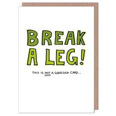 Break A Leg – Whale & Bird Good Luck Cards, Broken Leg, Whale, Greeting Cards, Positivity, Bird, Legs, Motivation, Whales