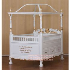 Canopy Crib Baby For Your This White Gold Mahogany