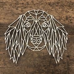3d Drawing Pen, 3d Drawings, Cocker Spaniel, Working Cocker, Working Dogs, Origami Patterns, Geometric Drawing, Wood Mosaic, Dog Furniture