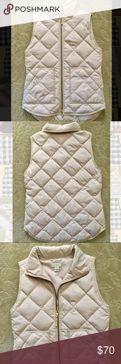 J.Crew Vest Beige (bleached sand) size XXS Brand new, never been worn but was a birthday present so don't have tags. Perfect condition. J. Crew Jackets & Coats Vests