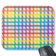 Blurred Rainbow Weave Mousepad