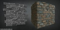 Personal Work: Old Red Brick Wall Made in Zbrush + Substance Designer, Dannie Carlone on ArtStation at https://www.artstation.com/artwork/RDP0X
