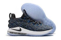 846a2f62407 Nike LeBron 15 Low Signal Blue Thunder Grey-Black AO1756-400