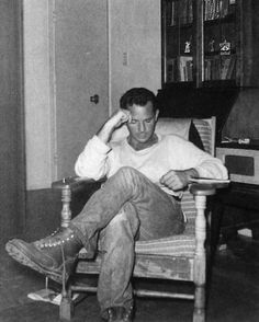 Jack Kerouac was actually a native French speaker. His parents were both French Canadian and moved to Lowell, Mass where Jack was born. His Christian name is Jean Louis Lebris de Kerouac. Many critics attribute his bizarre ability to write poetic run-on sentences to the fact that English grammar rules weren't as natural to him as French ones. -mcd