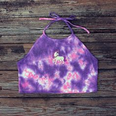 Our #ELECTRIC #TIEDYE #EMBROIDERED #MAJESTIC #UNICORN #PATCH #TOP IS BACK #InStock AND BETTER THAN EVER. Now #available in #PASTEL #PURPLE / #PINK on a #HALTER / #CAMI #CROPTOP. ✨ Now #DISCOUNTED for a #limited time! Get it fast  Only #1⃣ #ONE left in stock on our #shop!! LINK'S IN BIO❣  || #etsy #etsyshop #girly #tumblr #cute #kawaii #fashion #style