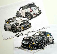 Mini Cooper Custom, Mini Cooper S, Mini Morris, Mini Lifestyle, Mini Cooper Clubman, Morris Minor, Smart Car, Car Painting, Car Wrap