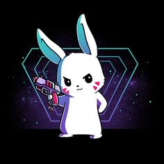 Get the black Gunny Bunny t-shirt only at TeeTurtle! Cute Animal Drawings, Kawaii Drawings, Cute Drawings, Bunny Art, Bunny Drawing, Anime Animals, Cute Animals, Kawaii Anime, Kawaii Cute