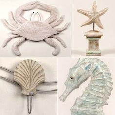 Beach Decor -Fun Artistic Wood and Metal Sculptures