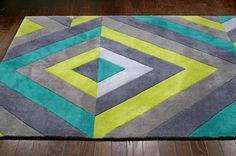 $5 Off when you share! Keno ACR170 Chartreuse Rug | Contemporary Rugs #RugsUSA