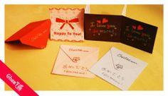 Des petites cartes pour une cliente qui va célébrer son mariage au japon! ^0^ Félicitations à eux deux!! ^v^  www.chezfee.com