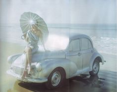 Audrey Marney on Solid Silver Morris Minor by Tim Walker for Japanese Vogue Amazing Photography, Art Photography, Fashion Photography, Tim Walker Photography, Morris Minor, Foto Art, Source Of Inspiration, Beach, Goa India