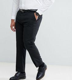 ASOS PLUS Slim Suit Pants In Black - Black