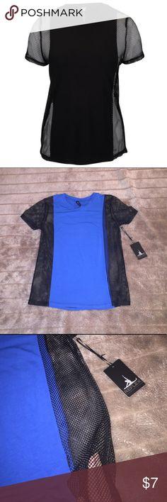 Blue with black mesh top Blue with black mesh top  NWT 90 Degree By Reflex Tops