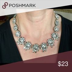 """Crystal Statement Necklace Chain measures 17"""". Bedecked & Bedazzled Jewelry Necklaces"""