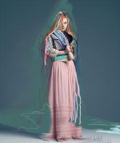 Elle Fanning photographed by Pierre Debusschere for Bullett Magazine, December 2012