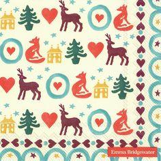 Servetten 33x33 cm - KERSTVERLICHTING Emma Bridgewater, Kids Rugs, Christmas, Decor, Xmas Lights, Xmas, Decoration, Kid Friendly Rugs, Weihnachten