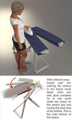 Smart ironing board! Need!