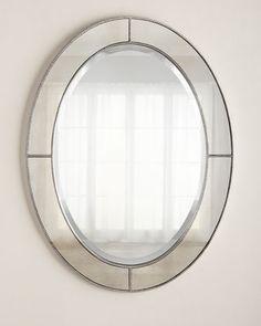 Contemporary Art Websites Oval Beaded Mirror
