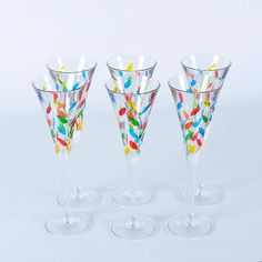 Glass flutes by Murano.  These are very pretty.
