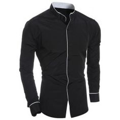 SHARE & Get it FREE   Edging Design Long Sleeve Grandad Collar ShirtFor Fashion Lovers only:80,000+ Items • FREE SHIPPING Join Twinkledeals: Get YOUR $50 NOW!