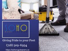 Do you know that the dirt particles can destroy the texture of your beautiful carpet? If you facing the same issue with your carpet then, Soho Rug cleaning services are for you. Experts in dealing with all kinds of carpet and giving the pleasing result in return.