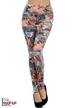 Only Leggings - Girl Power Cartoon Leggings, $32.00 (http://www.onlyleggings.com/girl-power-cartoon-leggings/)