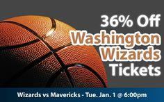 36% off Washington Wizards Tickets vs Dallas Mavericks Tue. Jan. 1 @ 6:00pm