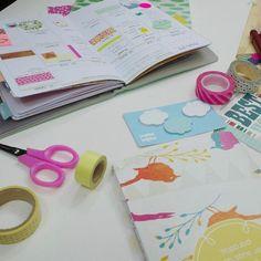 Fazendo o planejamento no planner porque essa semana promete! #planner #planneracraft #washitapes #plannerbrasil