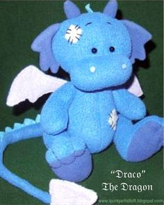 Sewing Stuffed Animals Quirky Artist Loft: Free Pattern: Draco The Dragon Sewing Toys, Baby Sewing, Sewing Crafts, Sewing Projects, Softies, Plushies, Sewing Stuffed Animals, Stuffed Animal Patterns, Handmade Stuffed Animals