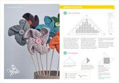 Free pinwheel crochet pattern by Las Teje y Maneje Crochet Home, Crochet Baby, Free Crochet, Knit Crochet, Crochet Chart, Crochet Stitches, Crochet Patterns, Crochet Decoration, Crochet Accessories