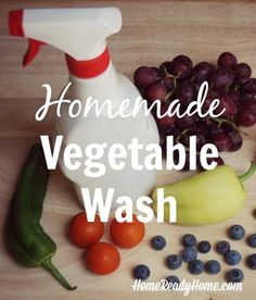 Homemade Vegetable Wash