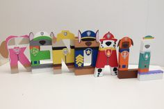 Paw Patrol Paper Mache Letters 4-LETTER by SugarLagoonParties