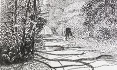Detail from David Hockney's Woldgate, 26 May 2013.