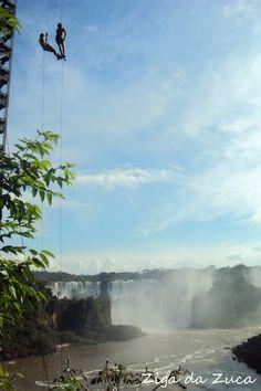 Rapel nas Cataratas do Iguaçu