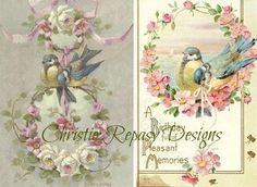 Things I have learned from repainting C.Klein vintage postcard patterns... (making vintage designs into new designs)