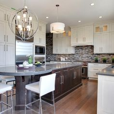 U Shaped Kitchen With Narrow Center Island Home Design Ideas, Pictures, Remodel and Decor
