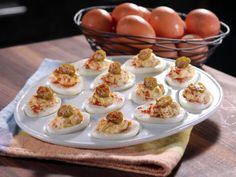 Lighter Southern Deviled Eggs : Recipes : Cooking Channel