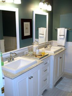 I like this bathroom idea, but I wonder if it can be done for a sinc (basically without the double sink and mirror)