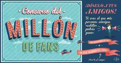 Haz clic y regístrate tú también. Nos jugamos un viaje de 3.000€ #MillónamigosCRF
