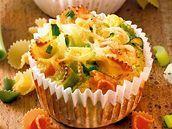 Pikantní muffiny s těstovinami