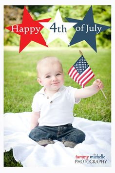 4th of July photo session | 6 month old session | Tammy Michelle Photography Hendersonville,TN