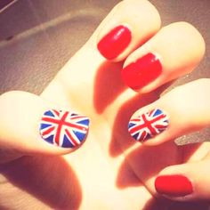 British nails for One Direction concert!!!
