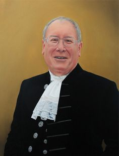 Portrait painting of the High Sheriff of Cumbria by Gary Armer