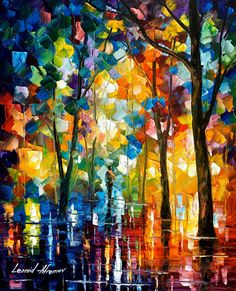 Contemporary Wall Art Decor Trees Painting On Canvas By Leonid Afremov - The Core Of Nature