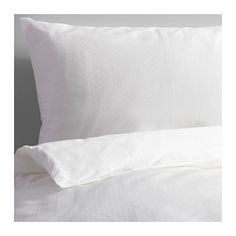IKEA - SKUGGLILJA, Duvet cover and pillowcase(s), Twin, , Sateen-woven bed linen in cotton is very soft and pleasant to sleep in, and has a pronounced luster that makes it look beautiful on your bed.The zipper keeps the comforter in place.Extra soft and durable quality since the bedlinen is densely woven from fine yarn.
