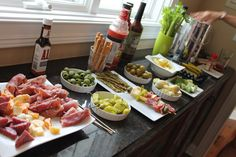 Those closest to us know that Hubby and I are crazy about Bloody Marys.  They are almost religious to us.  One of our favorite dates is to hop around town on a sunny Saturday trying out different Bloody Marys in Chicago.  We even considered having a full Bloody Mary bar at our wedding. During this year's Easter celebration, we were put in charge of bringing appetizers.  When you have a Mom like mine – who typically serves 3 meats, homemade lasagna and an array of sides & salads at holiday…
