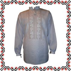 """#вишиванка ручної роботи, чоловіча сорочка """"Білий Виноград"""" (Арт. 00230), 1 100 ГРН."""