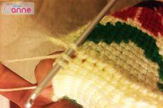 Ayçiçeği Tunus İşi Patik Modeli Yapımı - Canım Anne Anne, Model, Crochet Hats, Slipper, Scale Model, Models, Template, Pattern